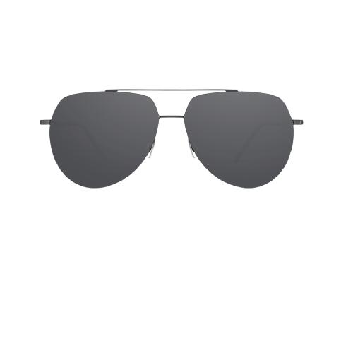 PROSUN 保圣 男女款太阳镜 PS7031C19 钛黑框黑片 61mm