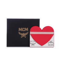 MCM 奢侈品 女士情人节Visetos系列人造革爱心图案卡包