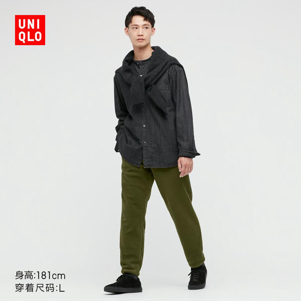 UNIQLO 优衣库 男士摇粒绒松紧九分裤 441105