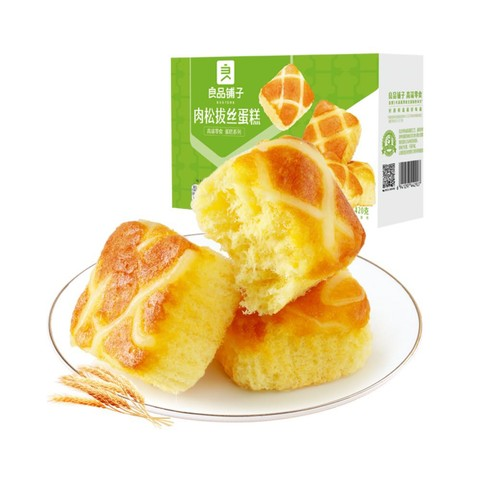 88VIP、周四白菜日:liangpinpuzi 良品铺子 肉松拔丝蛋糕 420g