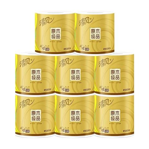 Breeze 清风 原木纯品金装系列 卷纸 4层125g8卷