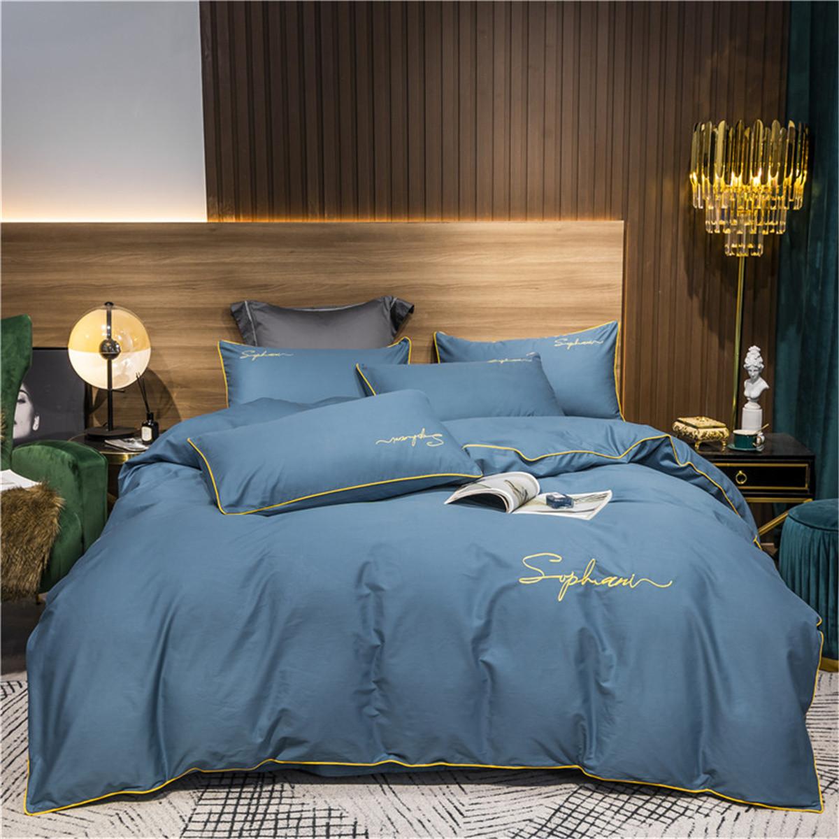 全棉60支长绒棉套件欧式裸睡纯棉床单被套床笠床上用品