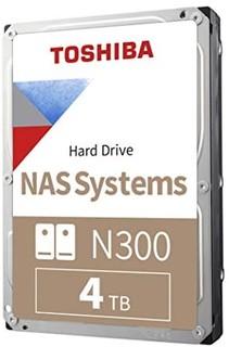 TOSHIBA 东芝 Toshiba 东芝 N300 4TB NAS 3.5英寸内置硬盘 - CMR SATA 6 GB/s 7200 RPM 256 MB高速缓存 - HDWG440XZSTA