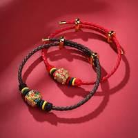印象眸 足金瑞兽转运珠手链 换手绳颜色可联系在线人工客服备注