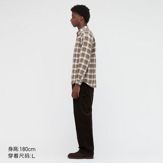 UNIQLO 优衣库 男装/女装 法兰绒格子衬衫(长袖秋季休闲轻薄外套) 441775