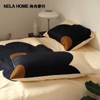 NELA HOME 设计师款太阳花长绒棉棉床品床单床笠被套床上四件套 太阳花-床笠款 适用1.8米床,搭配200*230cm被芯