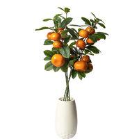 仿真金桔橘子绿植落地餐桌家居假花盆栽客厅仿真花房间装饰品摆件