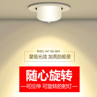 OUJIATU 欧佳图 象鼻灯COBled射灯嵌入式天花灯店铺商用三色家用客厅可调角度筒灯