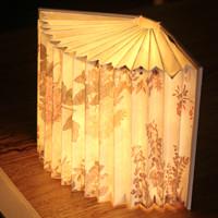 中国国家博物馆 百花图卷书本灯 卧室创意灯 文艺清新书灯led灯
