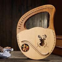莱雅 24弦里拉琴箜篌 云杉驯鹿+