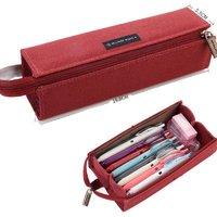 KOKUYO 国誉 一米新纯系列 WSG-PC22 涤纶文具袋 红色