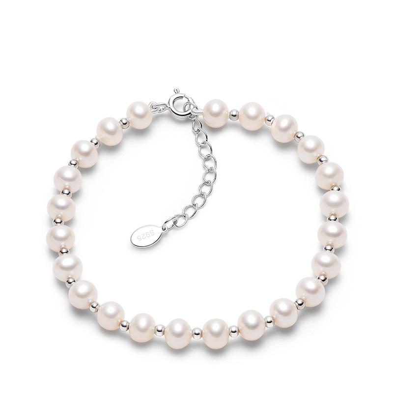 gN pearl 京润珍珠 3136208700160 都漫925银珍珠手链 16cm 5-6mm