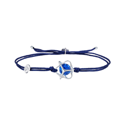 EMPHASIS Embrace「拥」系列 90793B 笼子925银仿水晶手绳 22cm