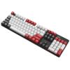 SUNSONNY 森松尼 J9 104键 有线机械键盘 红黑白三拼 集贤青轴 单光