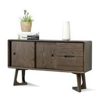 GarLand 加兰 s0486 全实木日式书桌 单独柜台