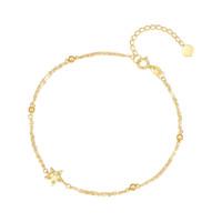 SUNFEEL 赛菲尔 SKSA0268Y 星语18K黄金手链 16.5cm