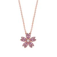 HEFANG Jewelry 何方珠宝 HFG027013 樱花925银项链 40.5cm
