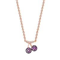 HEFANG Jewelry 何方珠宝 HFG027013 樱桃925银项链 40.5cm