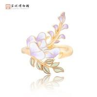 苏州博物馆 紫藤系列首饰 时尚饰品胸针 2.3x1.3cm 925银镀金珐琅彩 文创送礼佳选