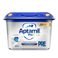 德国原装进口 爱他美(Aptamil)德国白金版HMO婴儿配方奶粉Pre段(0-6月)安心罐 800g