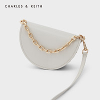 CHARLES & KEITH CHARLES&KEITH21秋新款CK2-50781558女士油画链条手提斜挎马鞍包