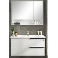 KUKa 顾家家居 G-06217080BS 实木洗脸盆浴室柜组合 80cm 普通银镜