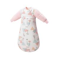 Begood 贝谷 婴儿睡袋秋冬季加厚棉款抑菌新生儿包被幼儿襁褓儿童防踢被四季通用 粉色