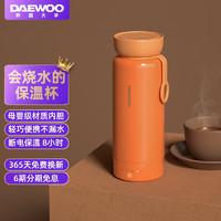 大宇(DAEWOO)电水壶 烧水壶便携式电热水杯家用旅行电热水壶 冲奶泡茶办公室养生保温杯 彩虹杯D8 活力橙