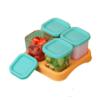 LOCK&LOCK 乐扣乐扣 LLG500MIT 儿童玻璃辅食储存盒 薄荷绿 120ml*4个