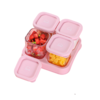 LOCK&LOCK 乐扣乐扣 LLG500MIT 儿童玻璃辅食储存盒 樱花粉 120ml*4个