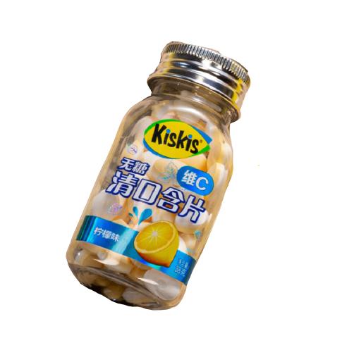 KisKis 酷滋 无糖维C清口含片 柠檬味 38g*4瓶