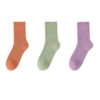 Nan ji ren 南极人 女士中筒袜套装 20210911 3双装(橘色+浅绿+紫色)