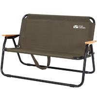 MOBI GARDEN 牧高笛 双人单层折叠椅 橄榄绿