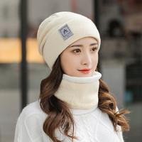 京振派 韩版针织保暖毛线帽围脖套装