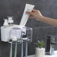 Artline 旗牌 情侣牙杯牙刷置物盒卫生间创意可爱家用漱口杯套装壁挂牙膏架刷牙