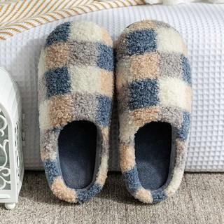 浅风 拖鞋棉拖鞋女冬季防滑家居鞋室内包跟居家棉鞋保暖毛绒拖鞋男士