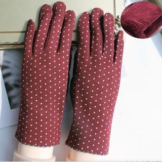 麂皮绒保暖手套