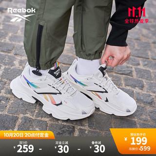 Reebok 锐步 【预售专享】Reebok锐步官方2021春季男女GV7138 90 年代复古跑鞋设计的老爹鞋 GX6335_白色/黑色/绿色/黄色/橙色/粉色/ 42 适用脚长约27CM(建议拍小1.5码)