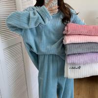 笑红颜 女士珊瑚绒两件套家居服套装  XHY-0301