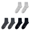 正统 男士中筒袜套装 D001 6双装(黑色*2+深灰*2+浅灰*2)