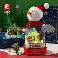 SEMBO BLOCK 森宝积木 雪人音乐盒  220PCS