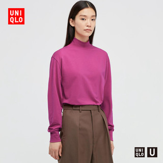 UNIQLO 优衣库 HEATTECH保暖衣 多舒暖加棉女装T恤半高领 445441