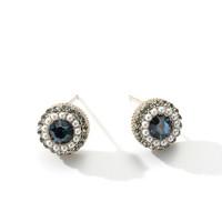 1日0点:TFY饰品 tfy0290e 巴洛克蓝色镶钻珍珠耳钉