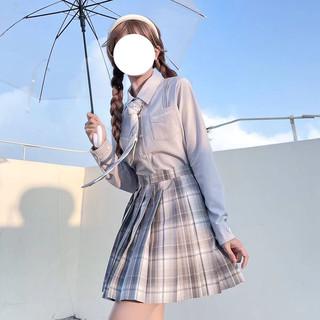 JK制服 天鹅系列 刺绣精致棉衬衣 白色
