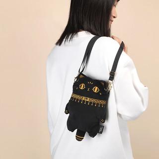 时尚萌宠 贴心设计—盖亚·安德森猫毛绒手机包 17x6x25.5cm 斜挎小包
