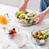 盛汤泡面,蔬果沙拉,多用耐热透明玻璃碗