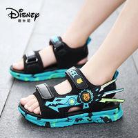 Disney 迪士尼 男童凉鞋2021年夏季新款儿童沙滩鞋软底防滑中小童凉鞋韩版