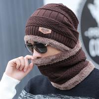 保暖针织帽 帽子+围脖