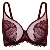 HSIA 遐 波普三角系列 女士有钢圈文胸 BD0336 浆果红 75B
