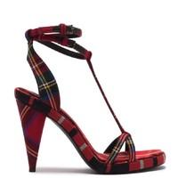 BURBERRY 博柏利 女士格纹高跟鞋 4069395